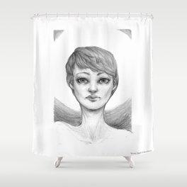 Seeing Angel Shower Curtain
