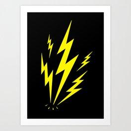 Electric Lighting Bolts Art Print