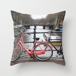 Amsterdam canal 5 Throw Pillow