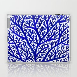 Fan Coral – Navy Laptop & iPad Skin