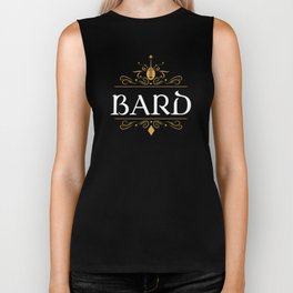 DnD Bard Character Class Dungeons and Dragons Inspired Tabletop RPG Gaming Biker Tank