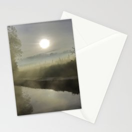 First Frosty Morning on Oxford Canal Stationery Cards