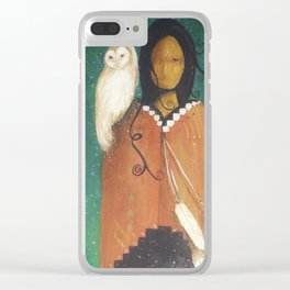 Wise Woman Clear iPhone Case
