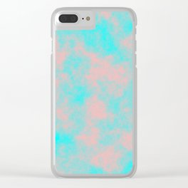 Cotton Candy Clouds - Pink & Blue Clear iPhone Case