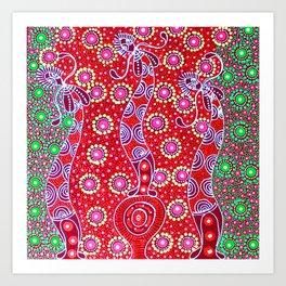 Australian Aboriginal Art - Christmas Art Print