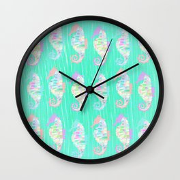 Seahorse - Pastel crystal (Spinel) Wall Clock