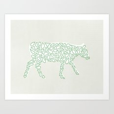 Farm Cow Art Print