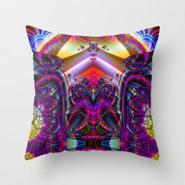 BBQSHOES: Fractal Digital Art Design 3114b Throw Pillow