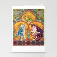 golden girls Stationery Cards featuring Golden Temple of the Good Girls by Susan Carlson