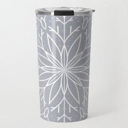 Single Snowflake - Silver Travel Mug