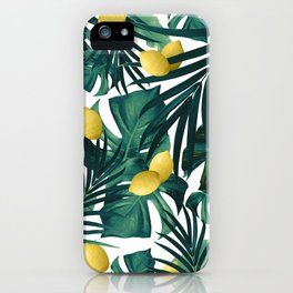 Tropical Lemon Twist Jungle #1 #tropical #decor #art #society6 iPhone Case