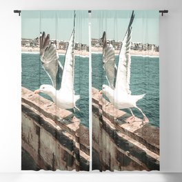 Seagull Taking Flight // California West Coast Pier Vibes Beach Ocean Surf City USA Blackout Curtain