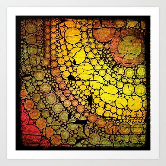Bubble Yellow Trouble Art Print