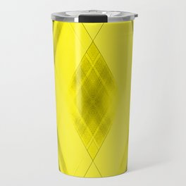 Hot triangular strokes of intersecting sharp lines with straw triangles and stripes Travel Mug