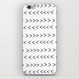 linocut Mudcloth grey and white minimal modern chevron arrows pattern gifts dorm college decor iPhone Skin