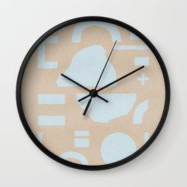 Flat lay minimal shapes Wall Clock