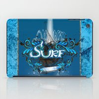 surfing iPad Cases featuring Surfing by nicky2342
