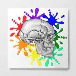 """I Was Born This Way""  (Skull Splash) Metal Print"