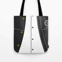 persona Tote Bags featuring Persona 4 Protagonist Uniform by Bunny Frost