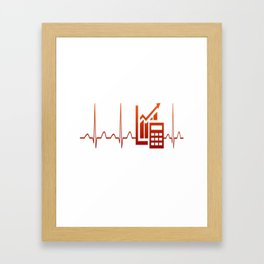 ACCOUNTANT HEARTBEAT Framed Art Print