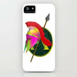 Spartan Helmet Colorful iPhone Case