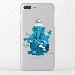 Ganesha rocks ! (v3) Clear iPhone Case