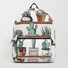 Cactus Shelf Rose Gold Green Backpack