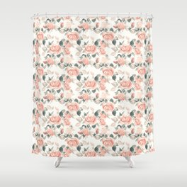 Delicate roses. Watercolor Shower Curtain