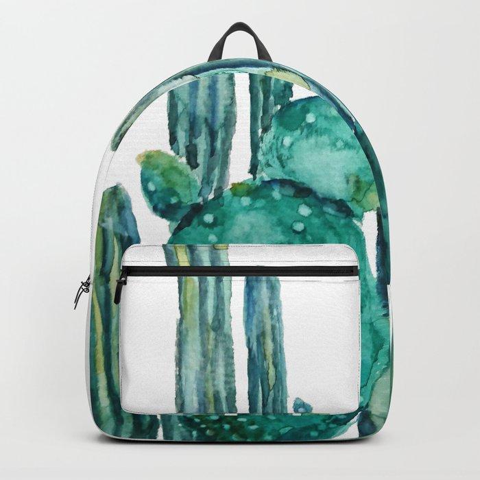 cactus jungle watercolor painting Backpack