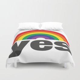 Vote Yes! - Rainbow Duvet Cover