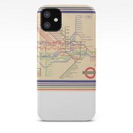 Vintage London Underground Map iPhone Case