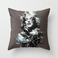 marilyn Throw Pillows featuring Marilyn. by Emiliano Morciano (Ateyo)