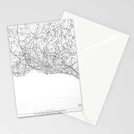 Lausanne Map White Stationery Cards