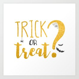 Trick Or Treat? | Glitter Art Print