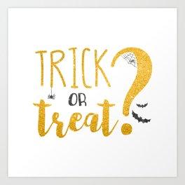 Trick Or Treat? | Glitter Art Print