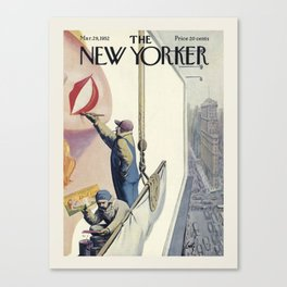 """Cover of """" The new Yorker"""" magazine. Mar. 29 1952. Canvas Print"""