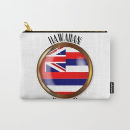 Hawaii Proud Flag Button Carry-All Pouch