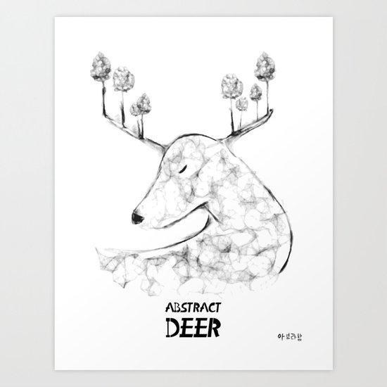 Abstract Deer Art Print