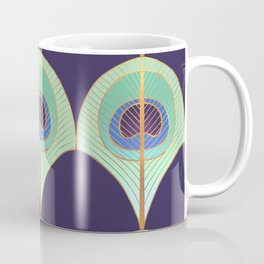 Peacock Feather Art Deco Coffee Mug