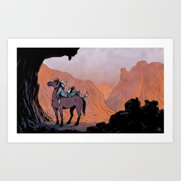 Reading Cowboy Art Print