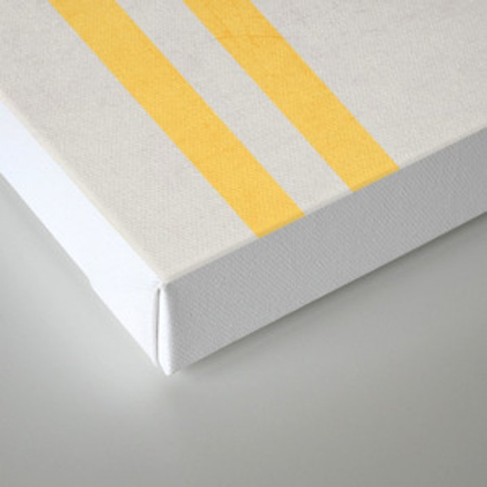 french linen - yellow Canvas Print