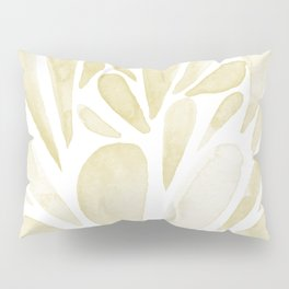 Watercolor artistic drops - yellow Pillow Sham