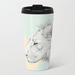 Lion and Bunny Metal Travel Mug