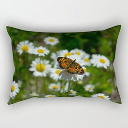 butterfly in the daisies Rectangular Pillow