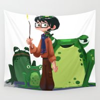merlin Wall Tapestries featuring Merlin by Erin Eng
