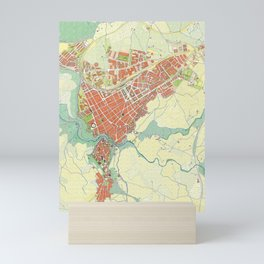 Ronda city map classic Mini Art Print