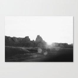 through my dirty windshield - badlands Canvas Print