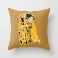 klimt Throw Pillows featuring klimt by Live It Up