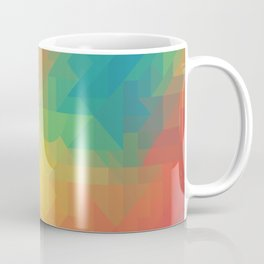 Geometric Pattern // Intricate Detailed Shapes // Gradient Colors (Orange, Yellow, Teal, Green, Red) Coffee Mug
