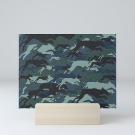 WEIMOUFLAGE BLU Mini Art Print